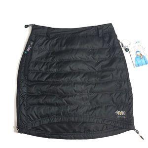 Skhoop Short Down Skirt Black Insulated Snow